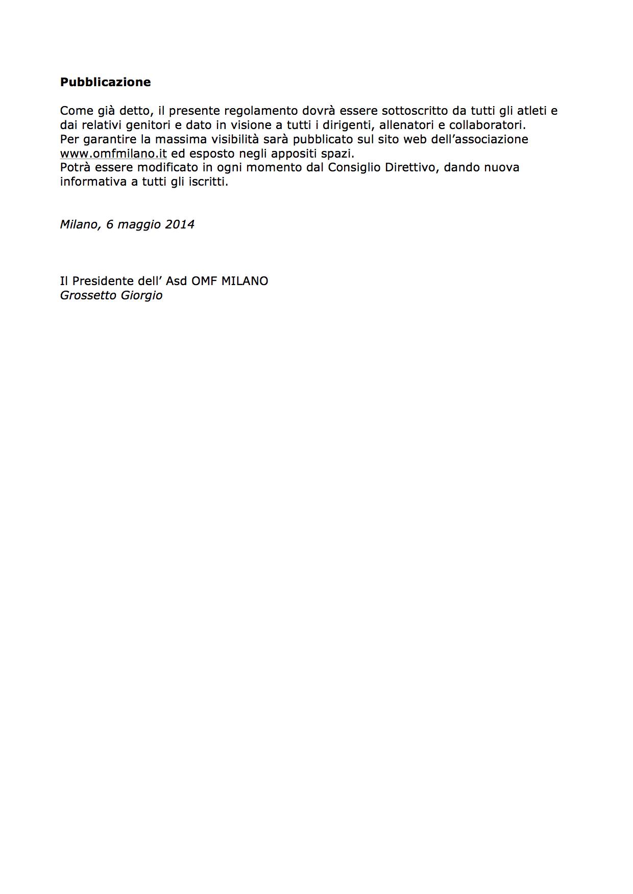 OMF - Regolamento interno 4